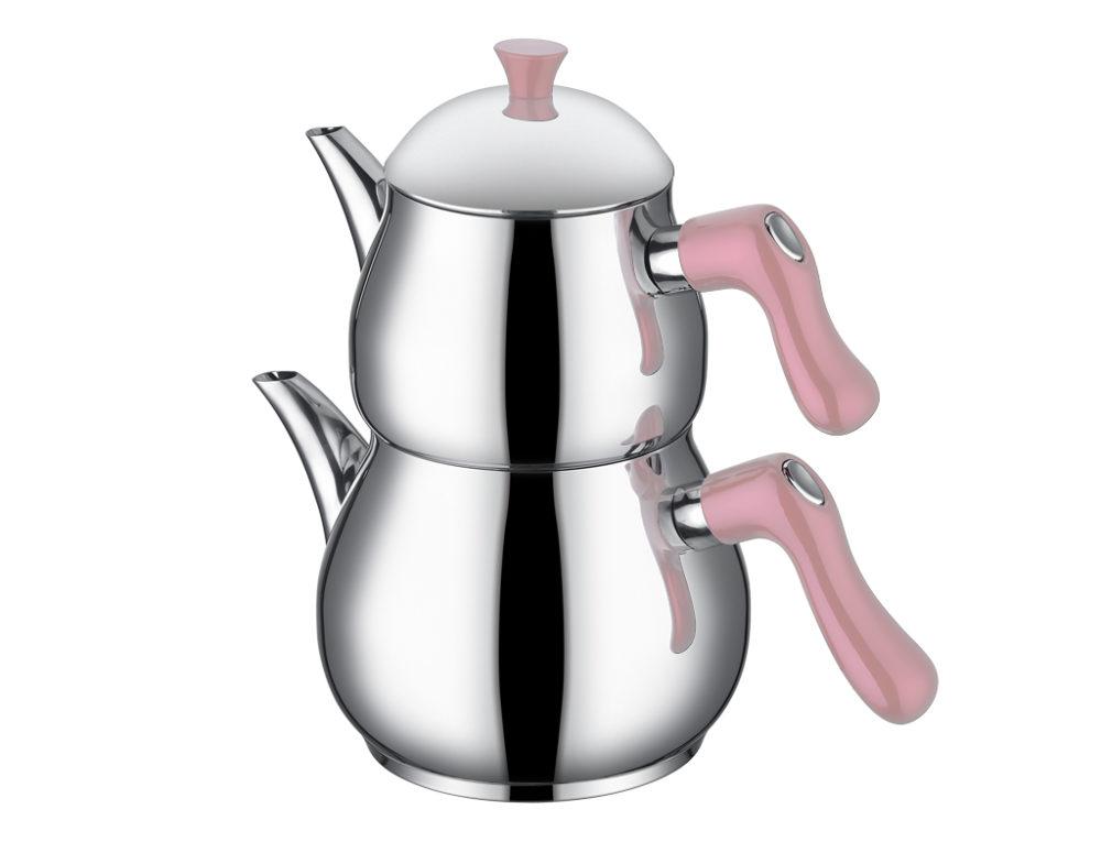 TAC 5762 - Taç Steamy Edelstahl Teekanne Pink