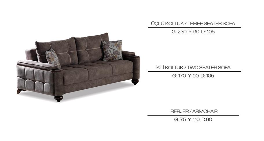 Milano Avangarde Sofa Set