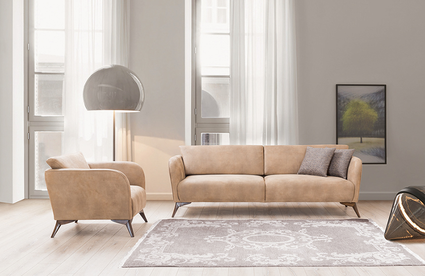 Scala 3+3+1+1 Modern Sofa-Set